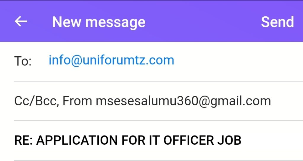 How to apply job through Email