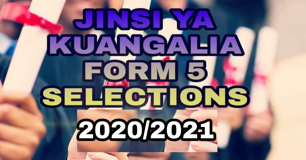 Selection Form Five 2020