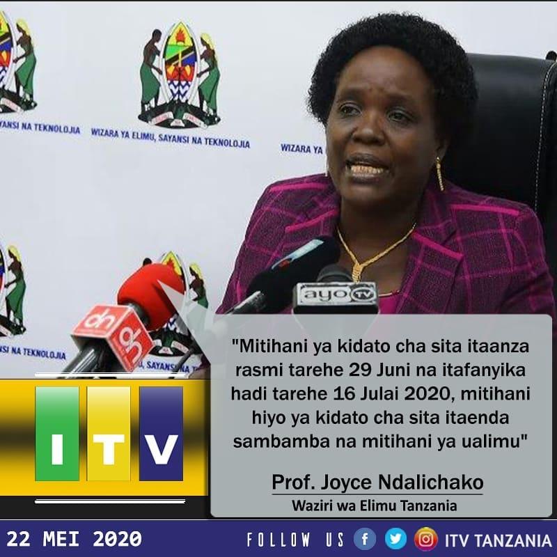 Ratiba Ya Kidato Cha Sita 2020   New Form Six Timetable 2020