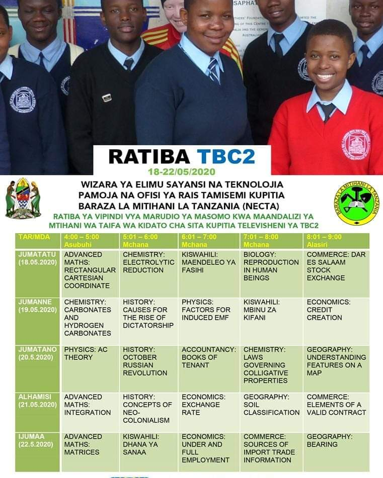 NECTA Revision Timetable For Form Six Preparation To National Examination 2020