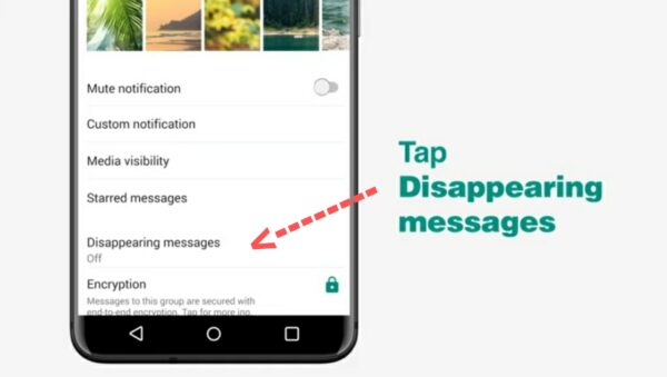 How to turn on/off WhatsApp disappearing messages feature