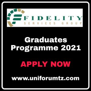 Fidelity Services Group Graduate Programme 2021.