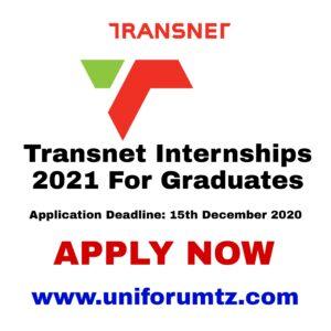 Transnet: Internships 2021