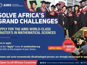 AIMS 2021 Master's degree in mathematical sciences Scholarships Fully Funded