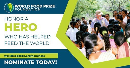 World Food Prize 2022 ($250,000 Prize)