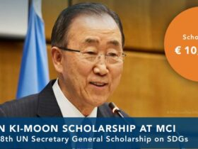 Ban Ki-Moon Scholarship for Masters Study at MCI 2021