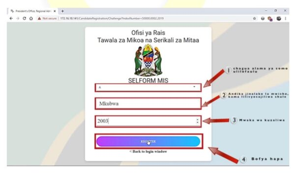 Selform PDF, Selform Form four 2021, Selfom TAMISEMI go tz, Selform 2021 TAMISEMI, Kubadili Combination Form Five 2021, Selform Registration