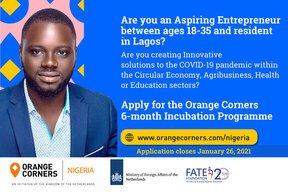 Orange Corners Nigeria Incubation Programme 2021
