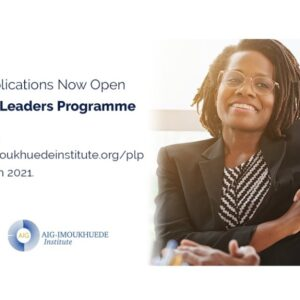 Africa Initiative for Governance (AIG) Public Leaders Programme 2021