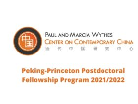 Peking-Princeton Postdoctoral Fellowship Program 2021/2022