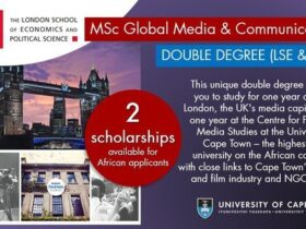 LSE/UCT Double Degree Masters Scholarships 2021/2022 (Fully Funded)