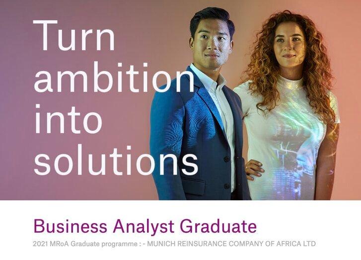 Munich Reinsurance Business Analyst Graduate Programme 2021