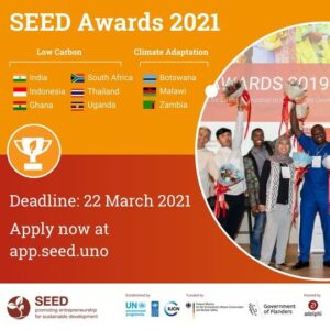 SEED Awards 2021 for Entrepreneurship in Sustainable Development