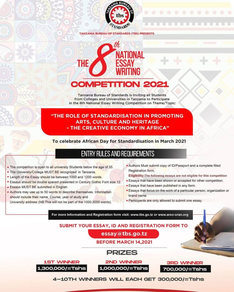 TBS Essay Competition 2021 Prize For Winners