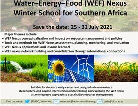 Water-Energy-Food (WEF) Nexus Winter School 2021 for Southern Africa