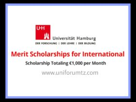 Merit scholarships for international students enrolled at Universität Hamburg, Germany