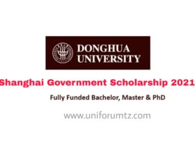 Shanghai Government Scholarship 2021