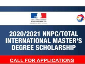 NNPC/Total International Master's Degree Scholarships 2021/2022