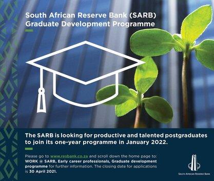 South African Reserve Bank (SARB) Graduate Development Programme 2022