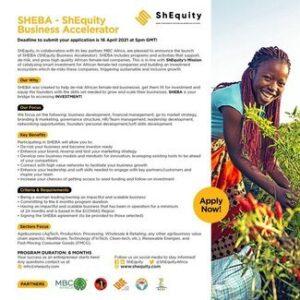 SHEBA – ShEquity Business Accelerator Program 2021