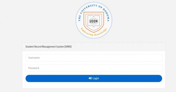 UDOM SRMS Login | Student Record Management System
