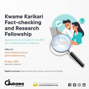 Kwame Karikari Fact-Checking and Research Fellowship 2021