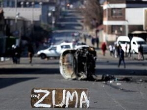 The army enters the streets South Africa