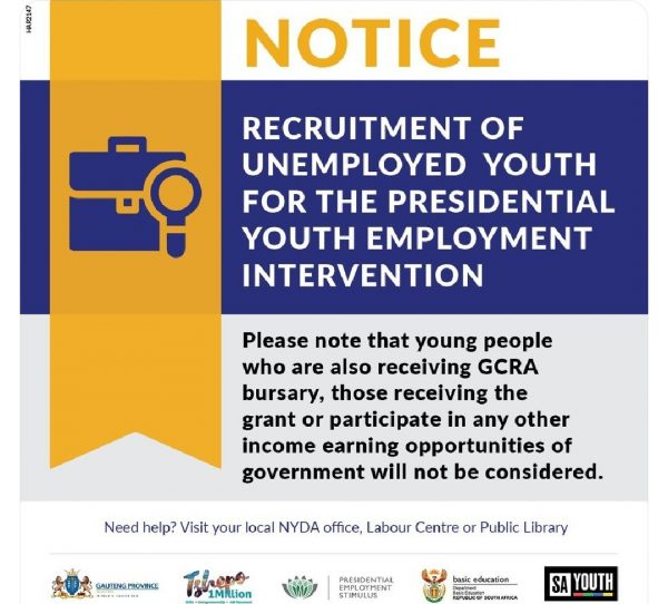 Notice For The Presidential Youth Employment Intervention