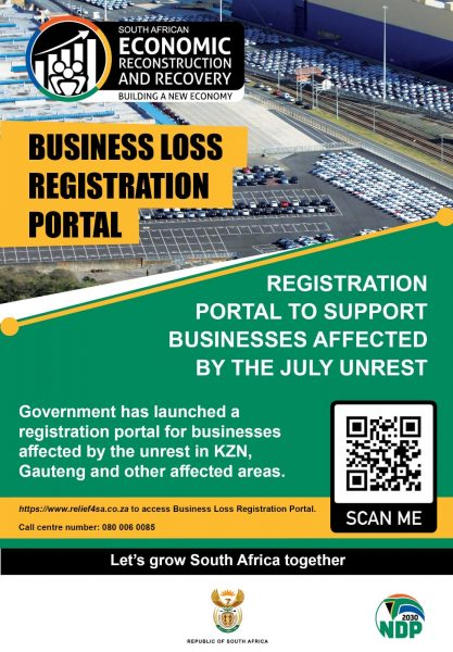 Government Business Loss Registration Portal - South Africa