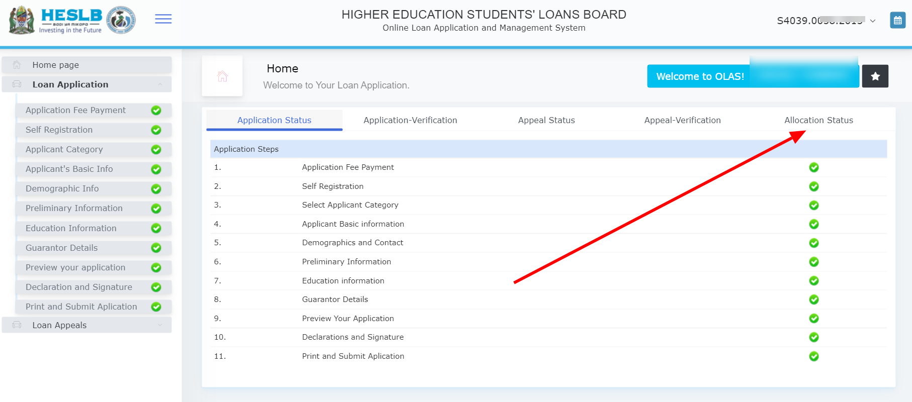 How to check HESLB Loan Allocation Status 2021/2022